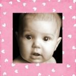 Marco rosa para fotos de bebé
