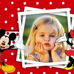 Marco infantil de Minnie y Mickey