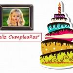 Marco gratis de Feliz Cumpleaños con pastel