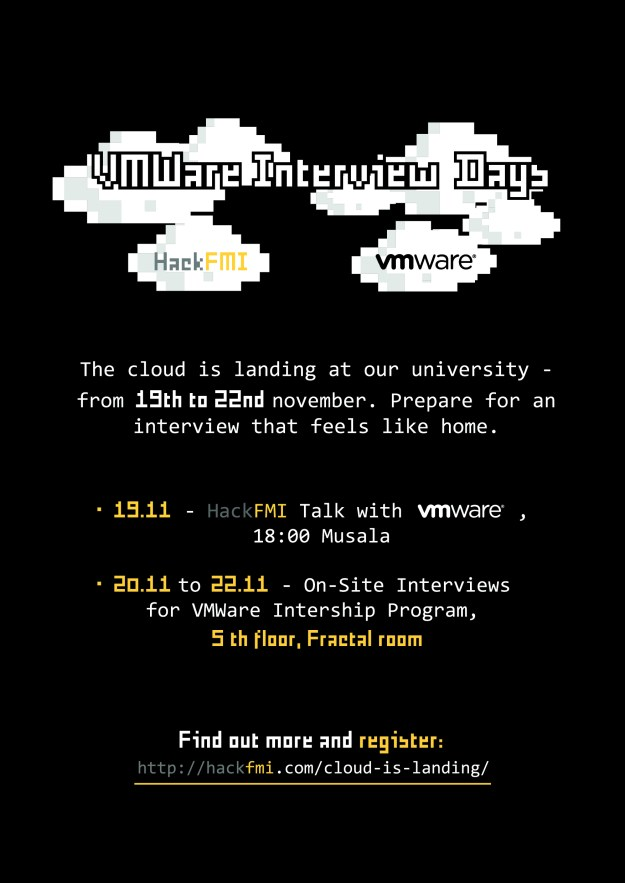VMWare Interview Days Poster