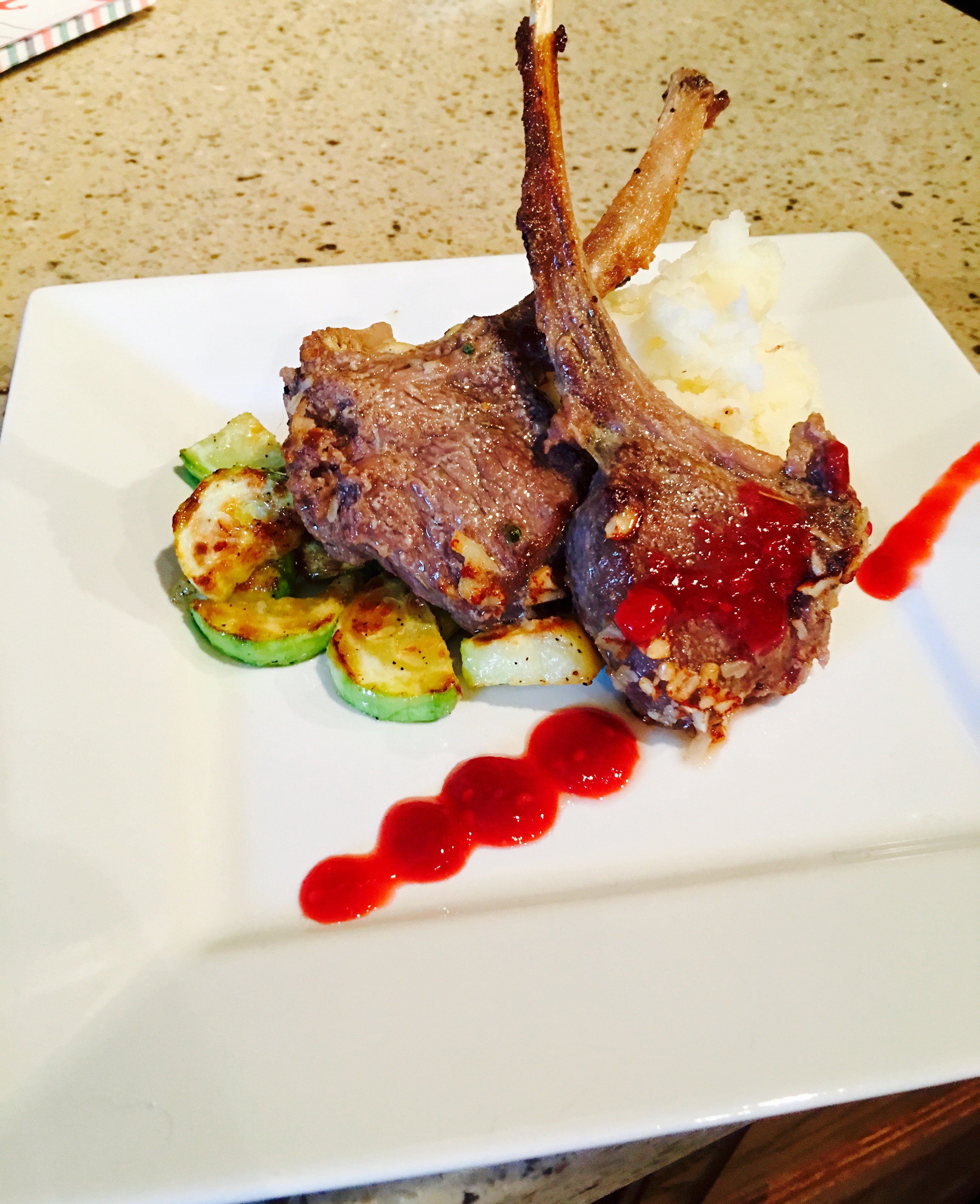 Appealing Only Lamb Chop I Ever Knew Was That Singing Never Ate Lambbefore To Know Wher I Liked It Or But It Always Looked Appetizingto Almond Crusted Lamb Chops Haftoeat nice food Lamb Chops Near Me