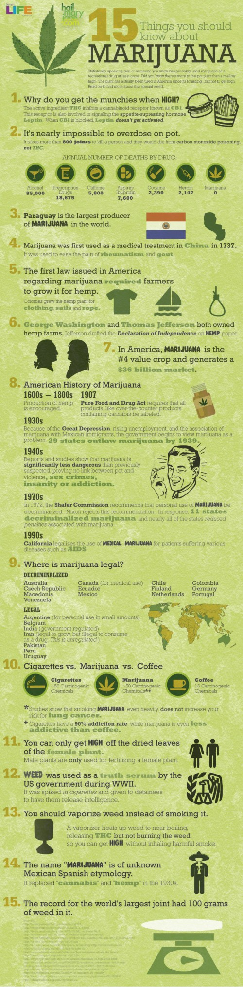 15 Things Your Should Know about Marijuana