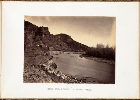 Andrew J. Russell. Echo City, looking up Weber River.