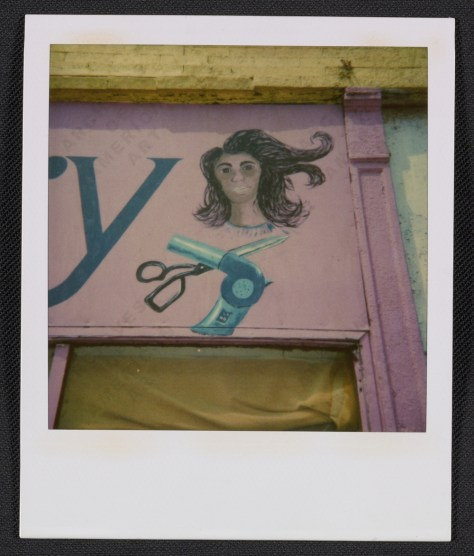 Ray Yoshida. Detail of a beauty salon sign, between 1972 and 1981.