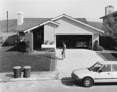 Joe Deal, Front Lawn (Watering) Phillips Ranch, California