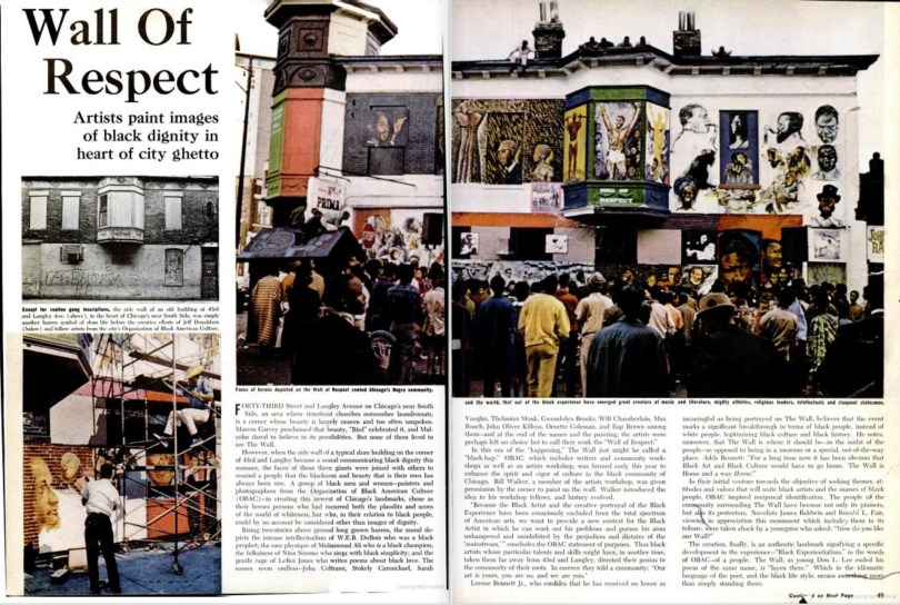 Wall of Respect. Ebony Magazine. December 1967.