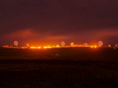 Trevor Paglen. NSA/GCHQ Surveillance Base, Bude, Cornwall, UK, 2014.