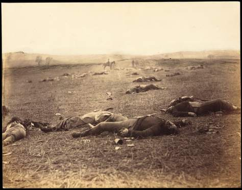 Timothy H. O'Sullivan. Battle-Field of Gettysburg. View on the Field after Fight of First Day., July 4, 1863
