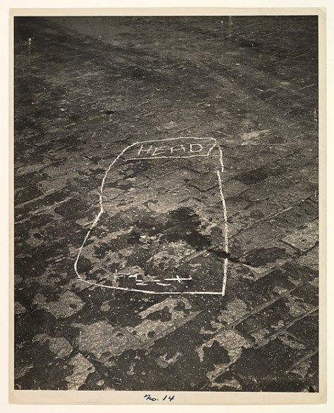 Weegee. Outline of a Murder Victim.