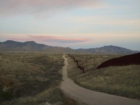 Richard Misrach. Wall, East of Nogales, 2015.