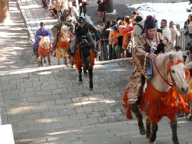 函館八幡宮騎馬参拝
