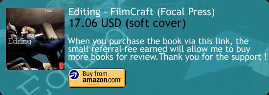 Editing – FilmCraft Series Book Focal Press Amazon Buy Link
