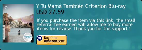 Y tu mamá también Criterion Blu-ray Alfonso Cuarón Amazon Buy Link