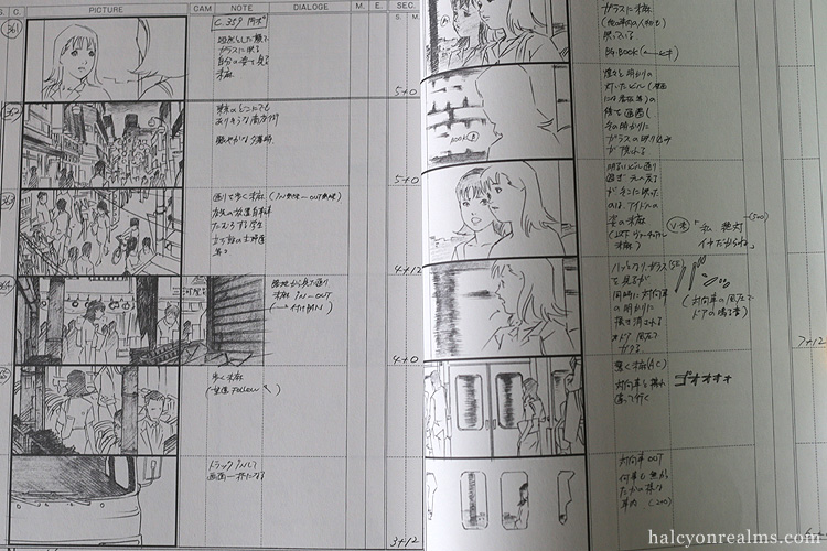 Perfect Blue Storyboard Collection Art Book Kon Satoshi