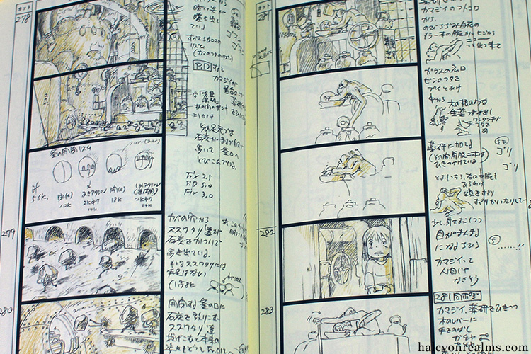 The Art Of Spirited Away - Storyboard Book