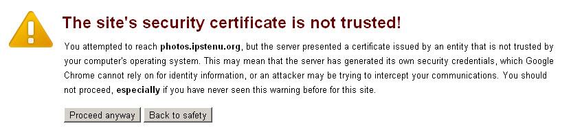 Chrome Cert Alert
