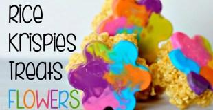 Rice Krispies Treats Flowers