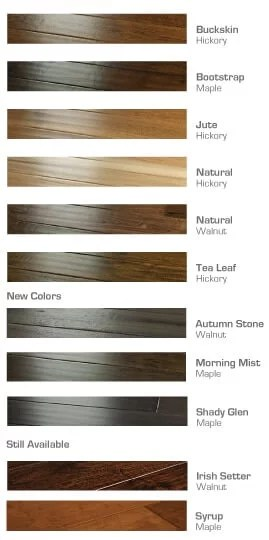 heirloom Color chart updated