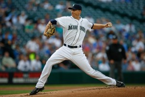 Mike Montgomery delivers a pitch during the first inning of a game against the Kansas City Royals at Safeco Field on June 23, 2015 (Otto Greule, Jr./Getty Images)