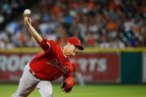 Garrett Richards delivers a pitch during the second inning of a game against the Houston Astros at Minute Maid Park on July 29, 2015  (Scott Halleran/Getty Images)