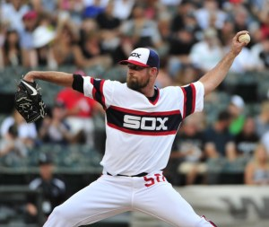 John Danks delivers a pitch during the first inning of a game against the New York Yankees at U.S. Cellular Field on August 1, 2015 (David Banks/Getty Images)