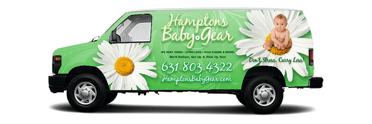 Hamptons Baby Gear Rentals Delivery and Pickup Van