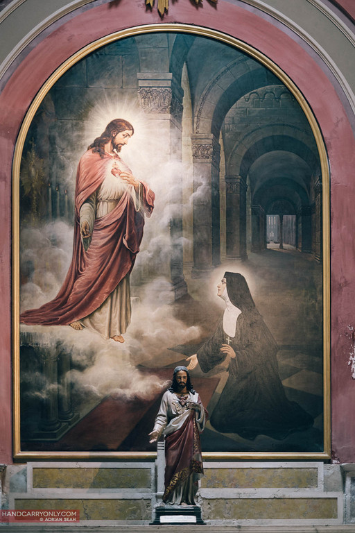 jesus paiting and statue in metropolitan cathedral, buenos aires, argentina