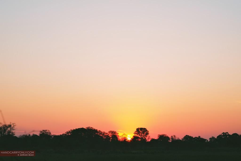 stunning african sunset