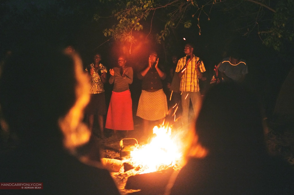 dancing by the campfire okavango delta