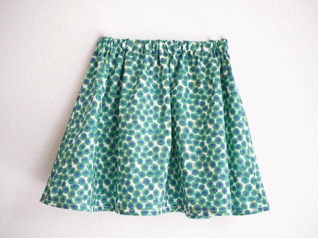 「ふんわりギャザースカート」の作り方