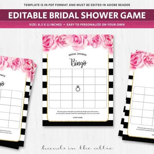 Medium Of Bridal Shower Bingo