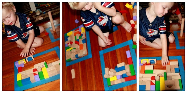 Block Puzzles with Tape