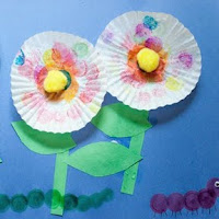 Mother's Day Cupcake Liner Flowers Craft