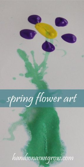 Spring Flower Art Activity for Kids