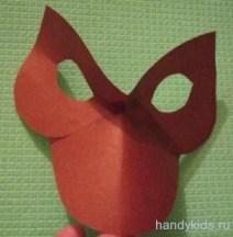 Сделаем маску собачки из картона