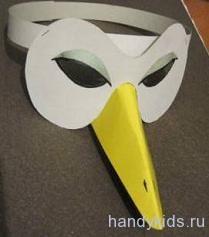 Как сделать из бумаги клюв для вороны