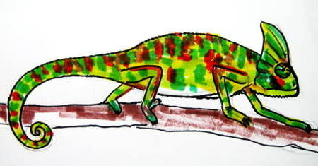 Рисунок хамелеон 17
