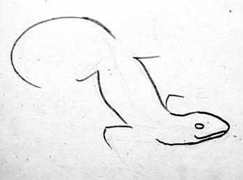 Рисуем ящерицу