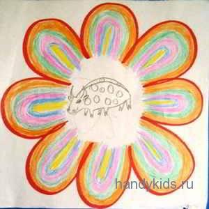 Обучающая раскраска Цветок.
