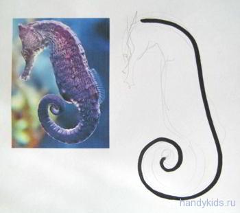 Рисуем морского конька