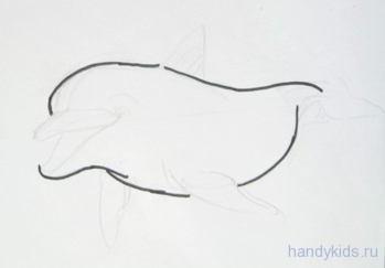Урок рисования дельфина