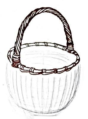 Рисуем корзину с натуры
