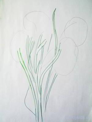 Как рисовать букет цветов