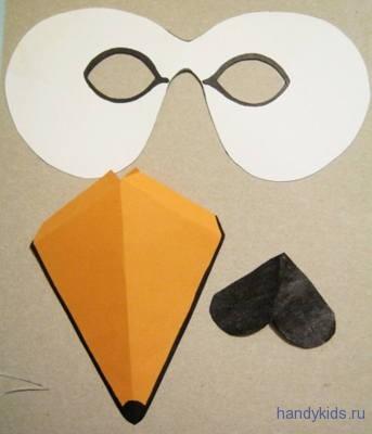 Маска лебедя из бумаги