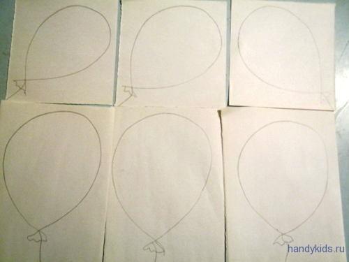 раскраски воздушный шарик