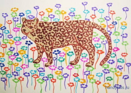 Аппликация Леопард