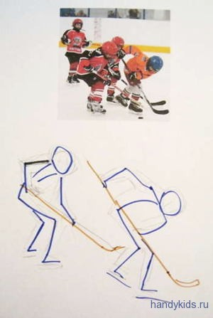 Рисуем хоккей