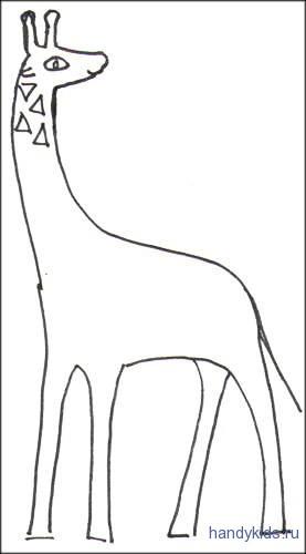 Раскраска жираф