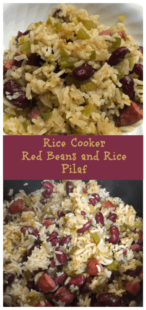rice cooker cajun red beans and rice pilaf hangry fork. Black Bedroom Furniture Sets. Home Design Ideas