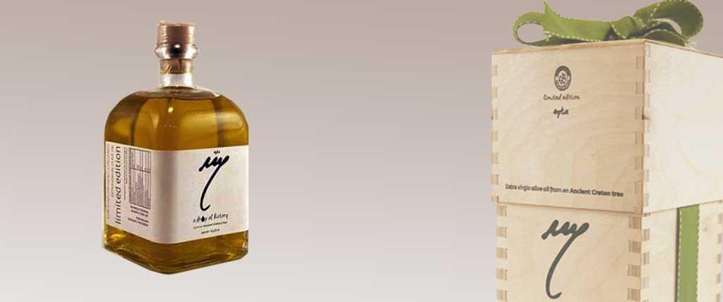 Ελαιόλαδο σε συλλεκτική συσκευασία από αρχαία ελαιόδεντρα της Κρήτης!